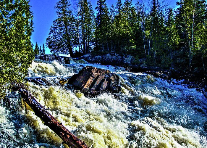 Falls Greeting Card featuring the photograph Amincon River Rootbeer Falls by Tommy Anderson