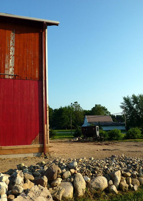 Red Barns Greeting Card featuring the photograph Amish Country by Robert Babler