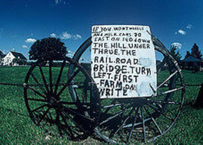 Photography Greeting Card featuring the photograph Amish Sign by The Signs Of The Times Collection