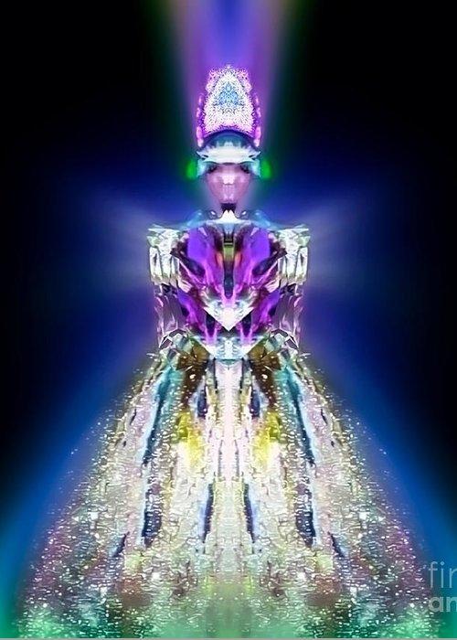 Angel Greeting Card featuring the digital art Amitiel by Raymel Garcia