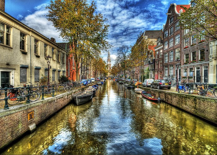 Amsterdam Greeting Card featuring the photograph Amsterdam by Svetlana Sewell
