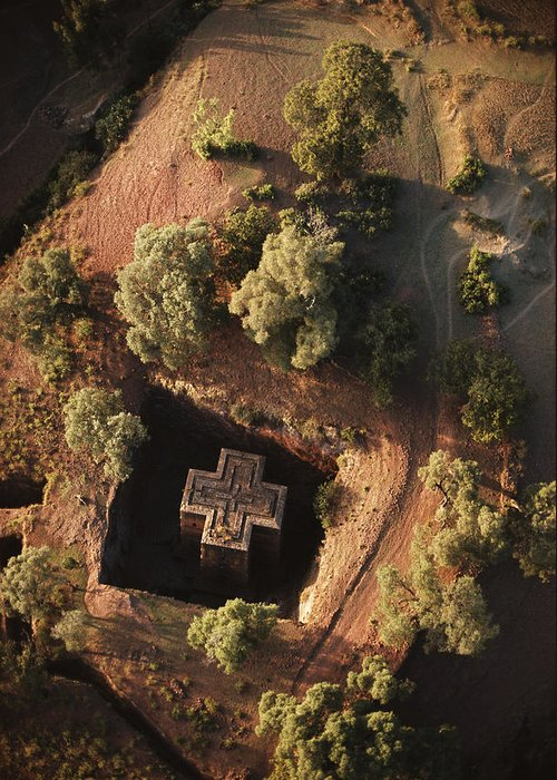 Religion Greeting Card featuring the photograph An Aerial View Of Beta by James P. Blair