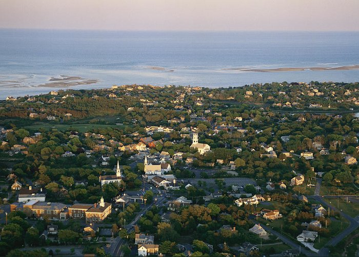 Outdoors Greeting Card featuring the photograph An Aerial View Of Chatham by Michael Melford