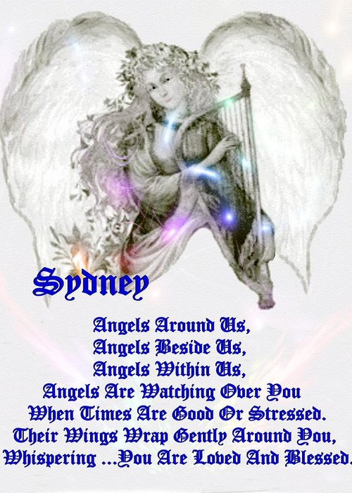 Smdgeart Greeting Card featuring the digital art An Angel Prayer For Sydney by Madeline Allen - SmudgeArt