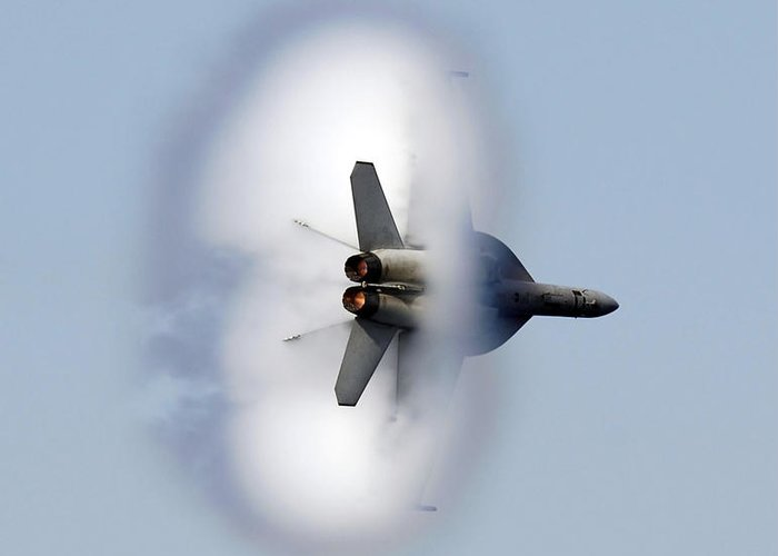Vertical Greeting Card featuring the photograph An Fa-18f Super Hornet Completes by Stocktrek Images
