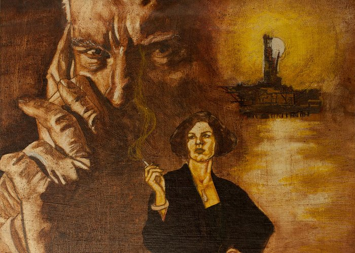Oil Paint Greeting Card featuring the painting An Inconvenient Intrigue by Michael Facey