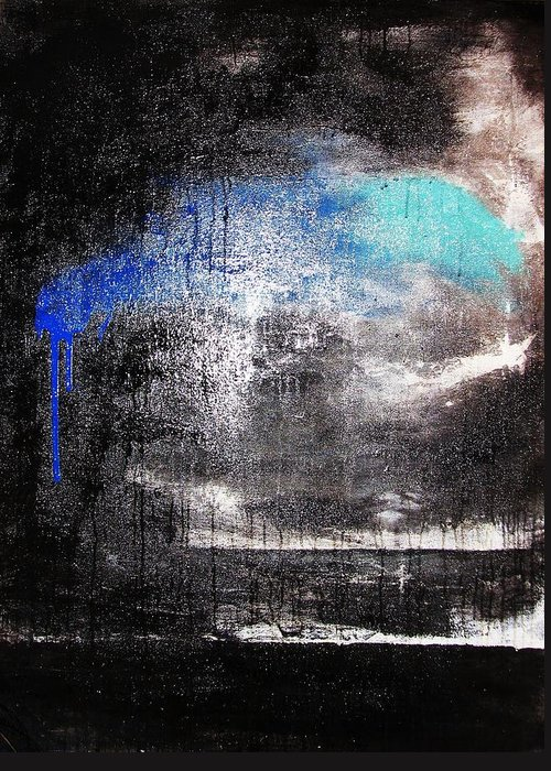Storm Greeting Card featuring the painting An Unusual Storm by Steffen Anderson