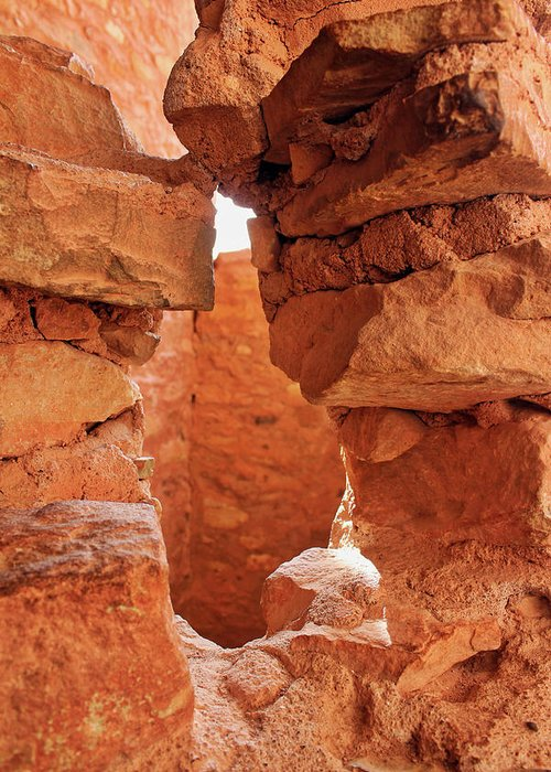 Cliff Dwellings Greeting Card featuring the photograph Anasazi Cliff Dwellings #8 by Lorraine Baum