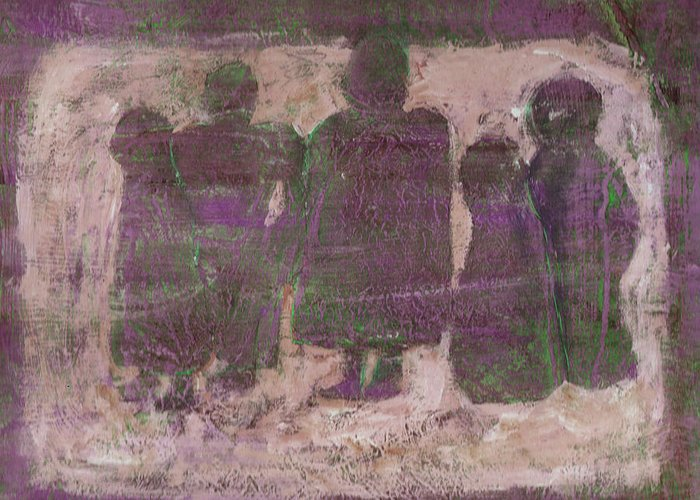 Ancestors Greeting Card featuring the painting Ancestors by Wayne Potrafka