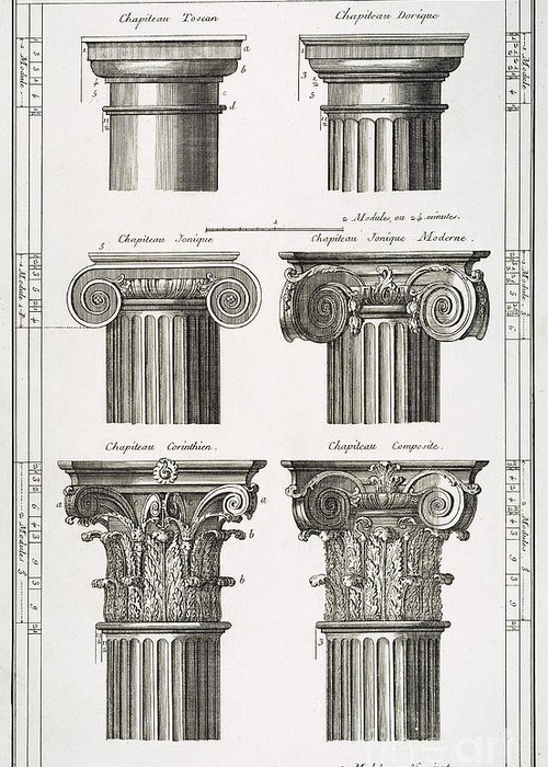 Columns For Sale >> Ancient Greek Columns Greeting Card For Sale By Granger
