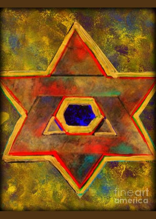 Ancient Star Greeting Card featuring the painting Ancient Star by Wbk