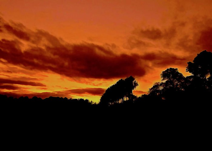 Sunset Greeting Card featuring the photograph Andalusian Autumn Sky by Elizabeth Tillar