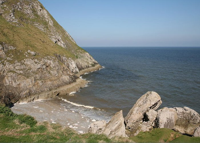 Cliffs Greeting Card featuring the photograph Angel Bay. Little Orme. by Christopher Rowlands
