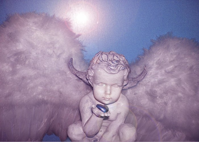 Angel-heart Greeting Card featuring the photograph Angel-heart by Ramon Labusch