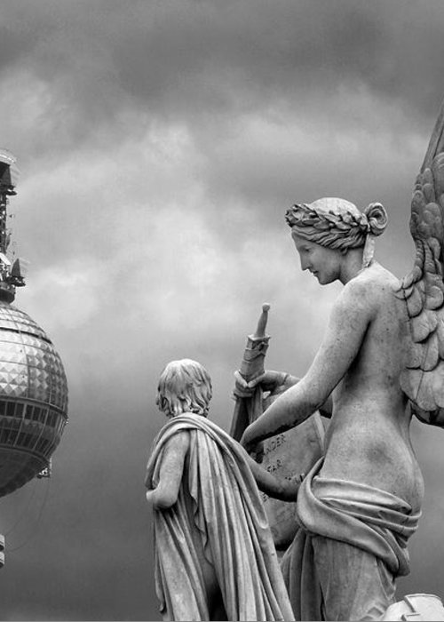 Nike Greeting Card featuring the photograph Angel In Berlin by Marc Huebner