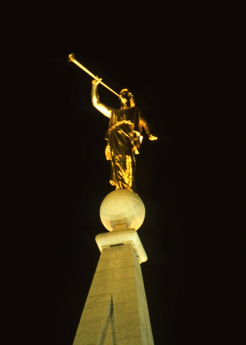 Salt Lake City Greeting Card featuring the photograph Angel Moroni by Troy Montemayor