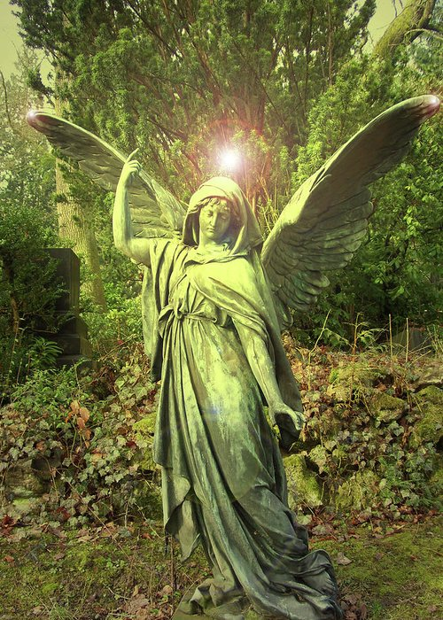 Angel Of Alliance Greeting Card featuring the photograph Angel Of Alliance No. 01 by Ramon Labusch