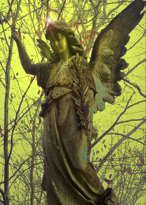 Angel Of Bless Greeting Card featuring the photograph Angel Of Bless No. 01 by Ramon Labusch