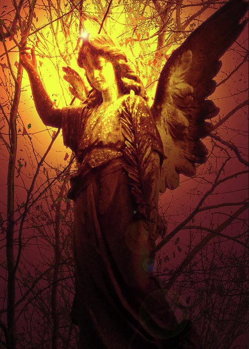 Angel Of Bless Greeting Card featuring the photograph Angel Of Bless No. 03 by Ramon Labusch