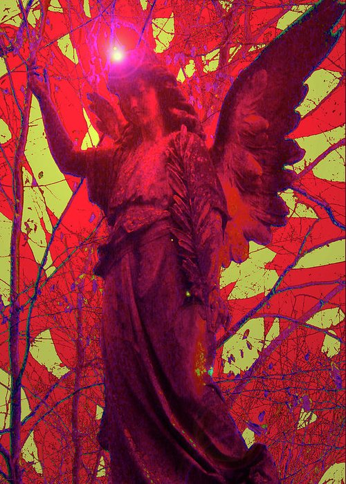 Angel Of Bless Greeting Card featuring the mixed media Angel Of Blesss No. 05 by Ramon Labusch