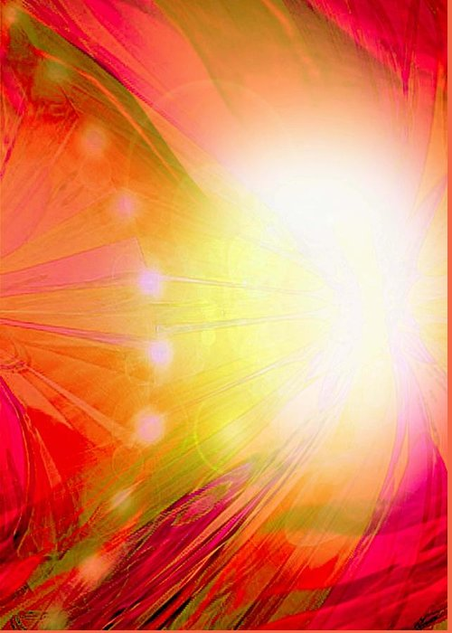 Angels Greeting Card featuring the digital art Angel Of Transformation by Mairin Gilmartin