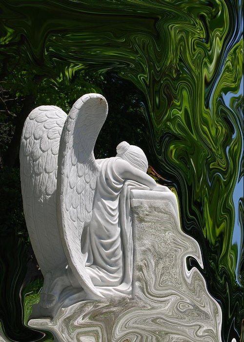 Angel Greeting Card featuring the photograph Angel by Patricia Motley