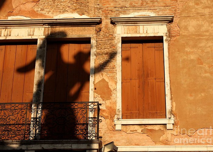 Venice Greeting Card featuring the photograph Angel Shadow in Venice by Michael Henderson