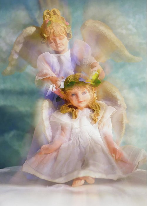 Angelical Mixed Media Greeting Cards