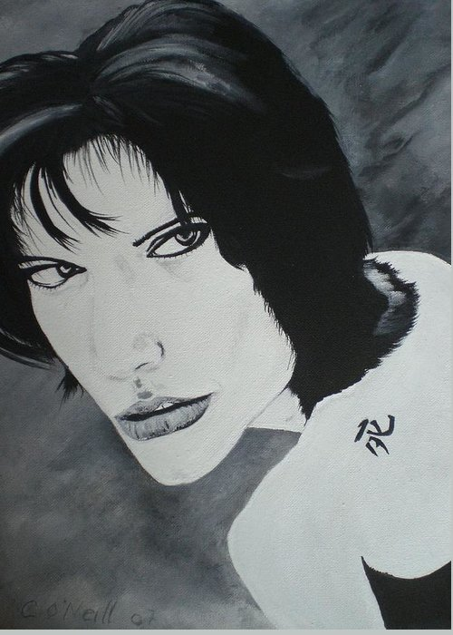 Angelina Greeting Card featuring the painting Angelina by Colin O neill