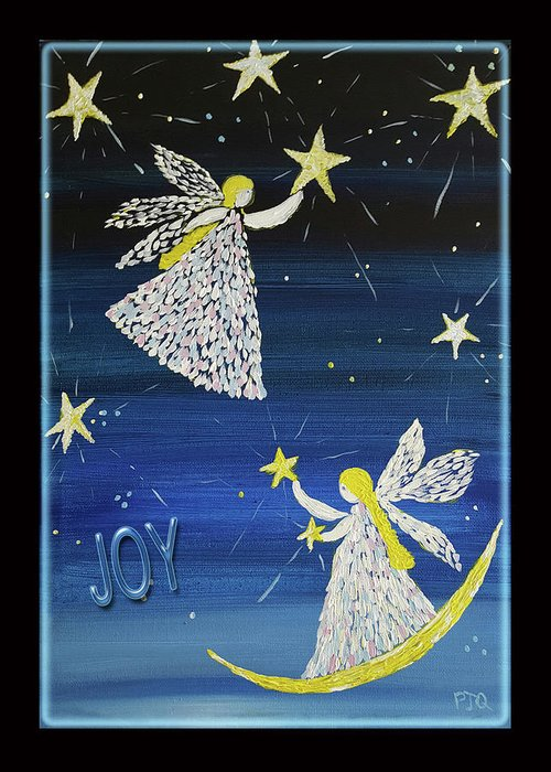 Joy Of Angels Shining Stars Greeting Card featuring the photograph Angels, Joy, Lucky Stars by PJQandFriends Photography