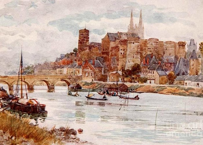 Herbert Menzies Marshall - Angers 1906 Greeting Card featuring the painting Angers by MotionAge Designs