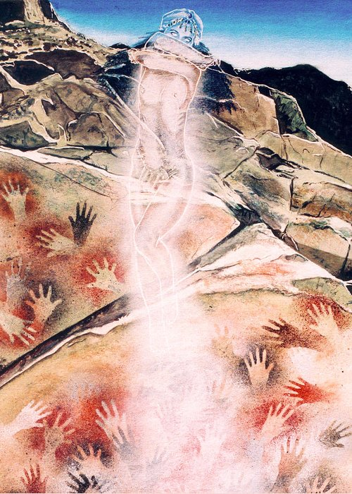 Women Greeting Card featuring the painting Anima Rising by Ken Meyer