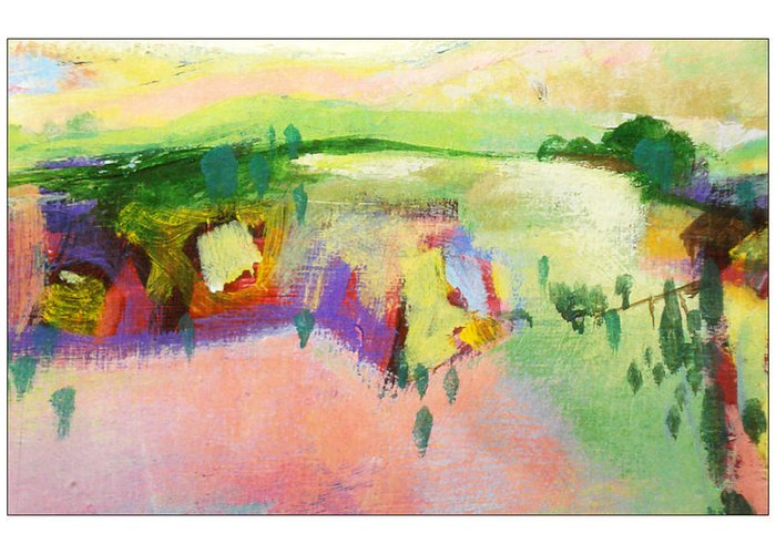Landscape Greeting Card featuring the painting Ann by Dale Witherow
