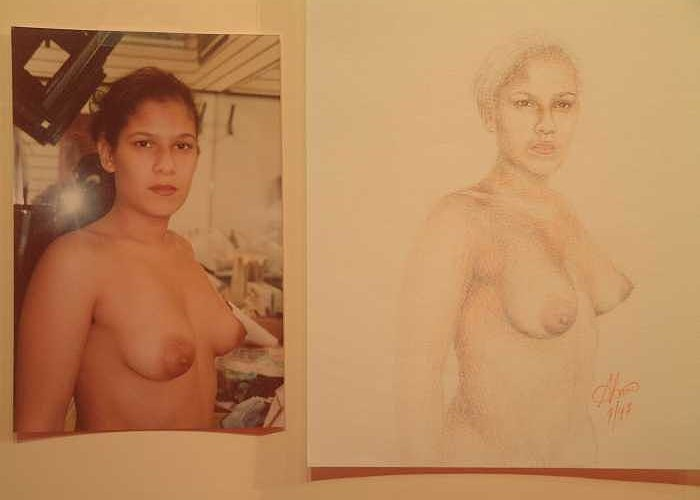 Nudes Greeting Card featuring the painting Anna by Benito Alonso
