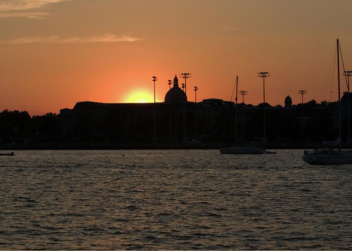 Landscape Greeting Card featuring the photograph Annapolis Sunset by Steven Folino
