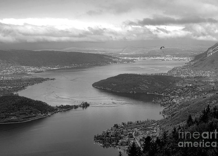 Annecy Greeting Card featuring the photograph Annecy Lake by Olivier Le Queinec