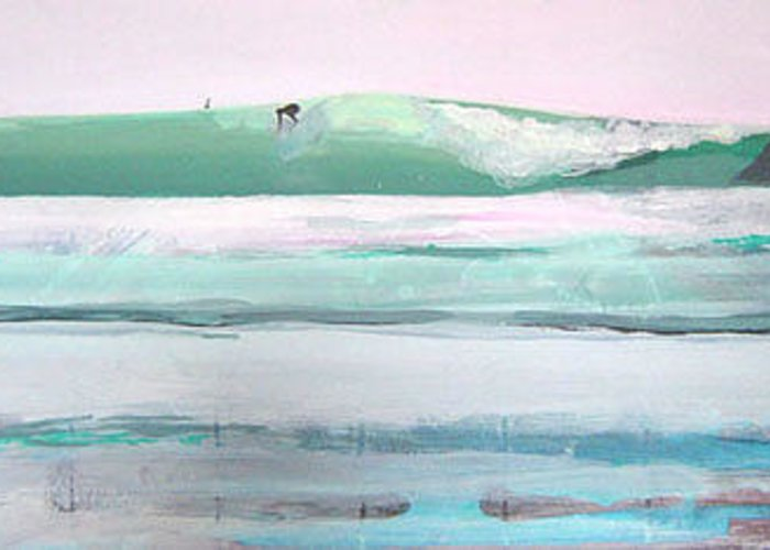 Surf Greeting Card featuring the painting Ano Nuevo by Peter Forbes
