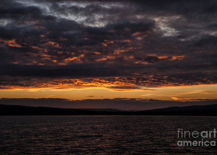 Colourful Greeting Card featuring the photograph Another Colourful Sunrise by Philippe Boite
