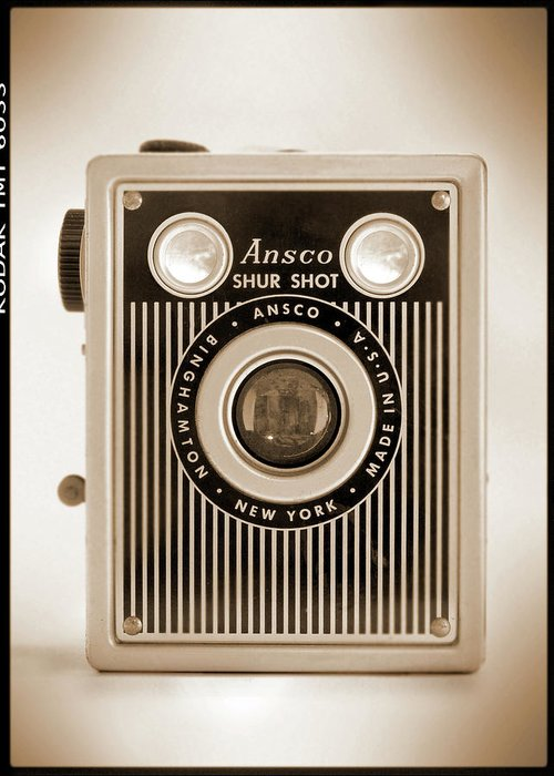 Vintage Film Camera Greeting Card featuring the photograph Ansco Shur Shot by Mike McGlothlen