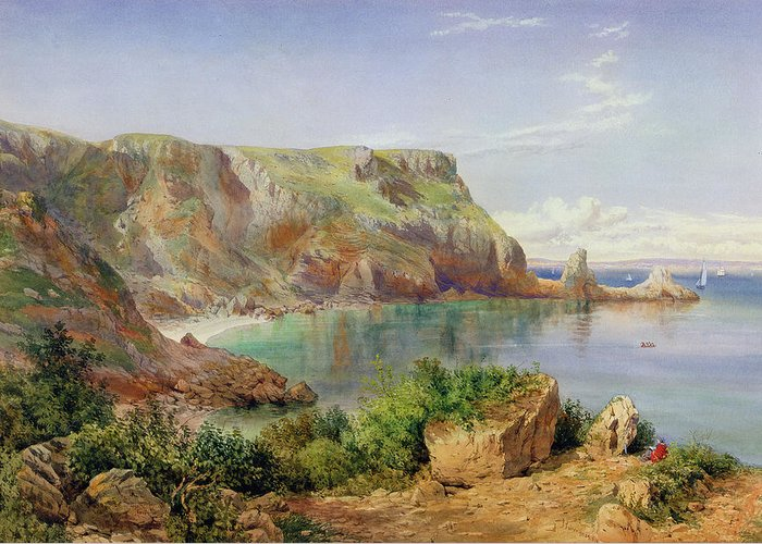 Ansty Greeting Card featuring the painting Ansty's Cove by John William Salter