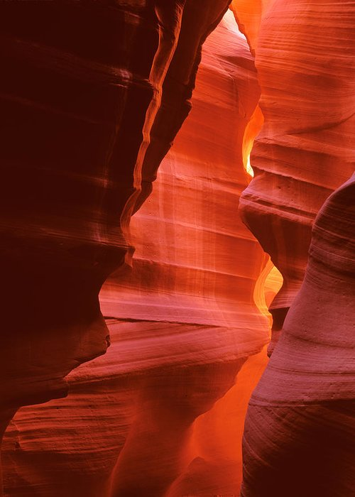Antelope Canyon Greeting Card featuring the photograph Antelope Canyon 1 by Johan Elzenga