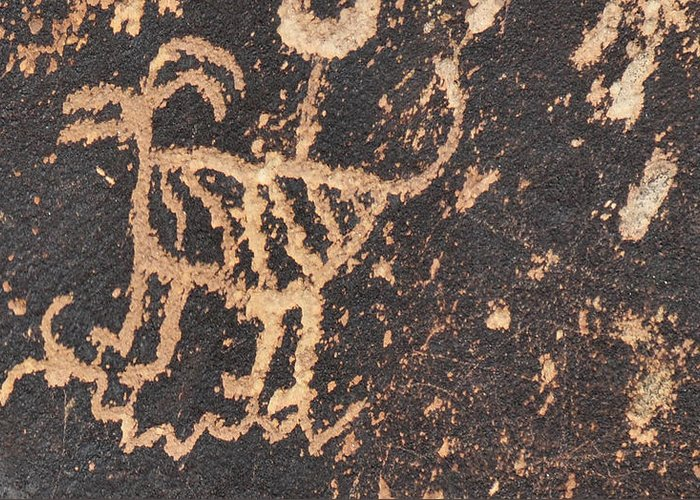 Native American Art Greeting Card featuring the photograph Antelope Petroglyph by David Arment