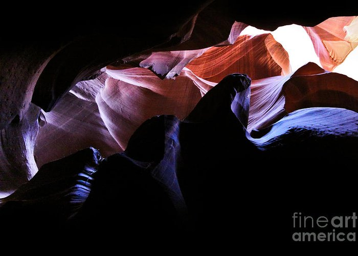 ryankellyphotography@gmail.com Greeting Card featuring the photograph Antelope Slot Canyons by Ryan Kelly