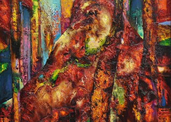 Ignatenko Greeting Card featuring the painting Anthill by Sergey Ignatenko