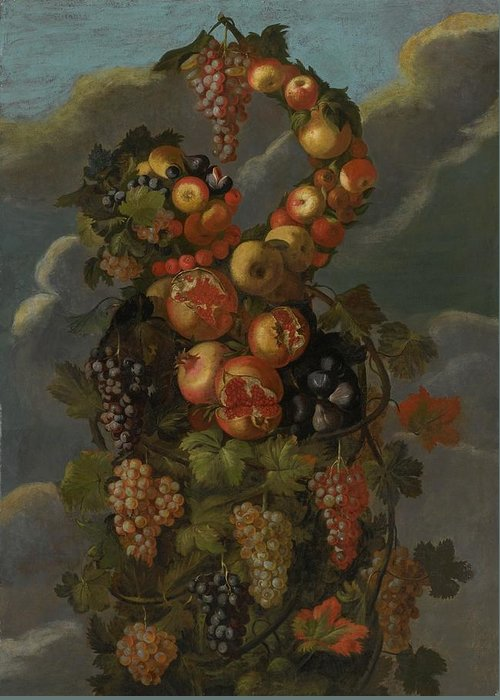 Circle Of Giuseppe Arcimboldo Anthropomorphic Allegory Of Autumn Greeting Card featuring the digital art Anthropomorphic Allegory Of Autumn by Mark Carlson