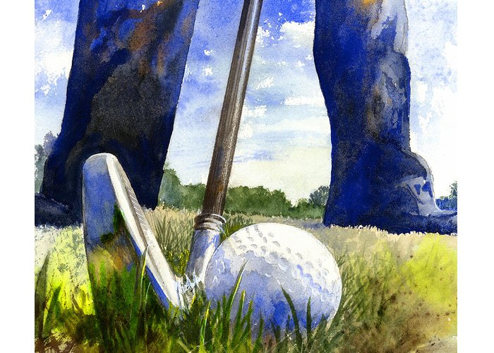 Golf Clubs Greeting Cards