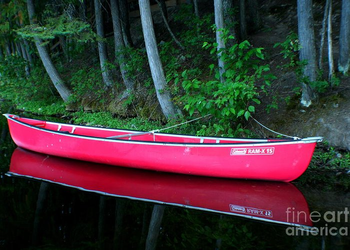 Canoe Greeting Card featuring the photograph Anticipation by Idaho Scenic Images Linda Lantzy