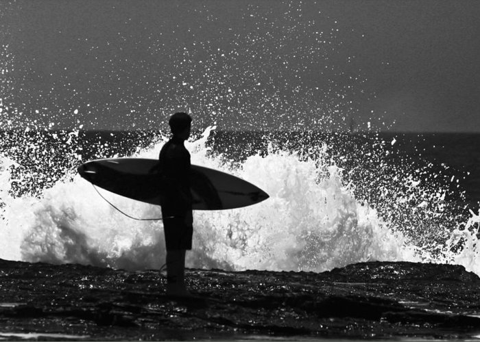 Surfer Greeting Card featuring the photograph Anticipation by Sheila Smart Fine Art Photography