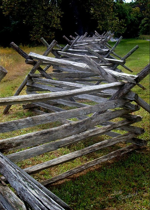 Fence Greeting Card featuring the photograph Antietam Fenceline by Judi Quelland