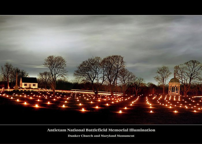 Antietam Battlefield Greeting Card featuring the photograph Antietam Panorama by Judi Quelland
